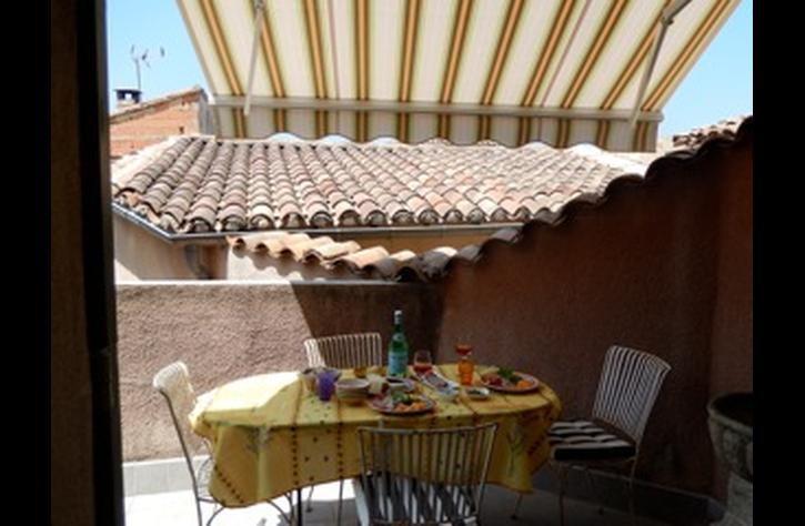 We added the awning on the terrace this summer